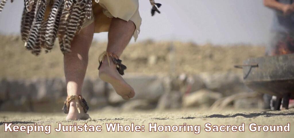 Image of indigenous dancer, dancing on sacred ground.