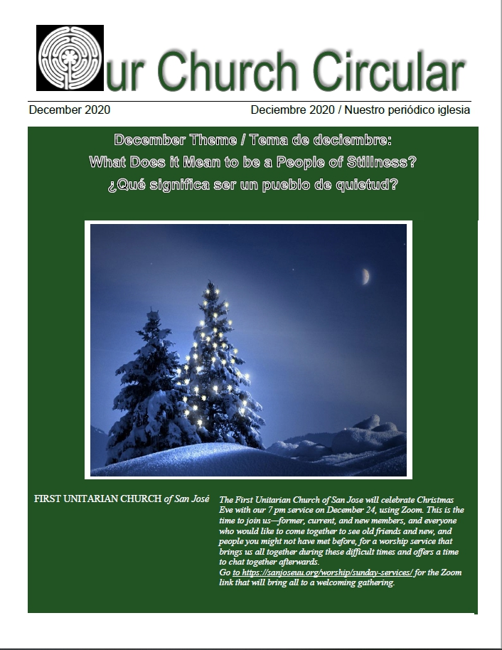 Cover of our monthly church circular.